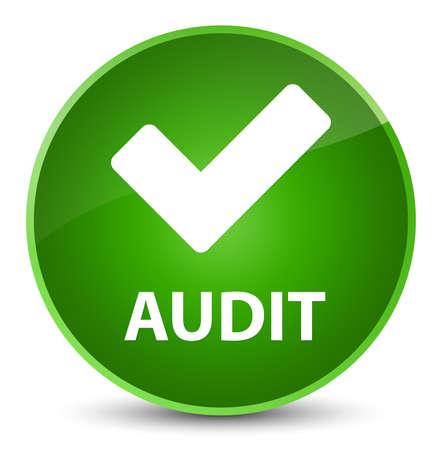 Audit (validate icon) isolated on elegant green round button abstract illustration Stock Photo