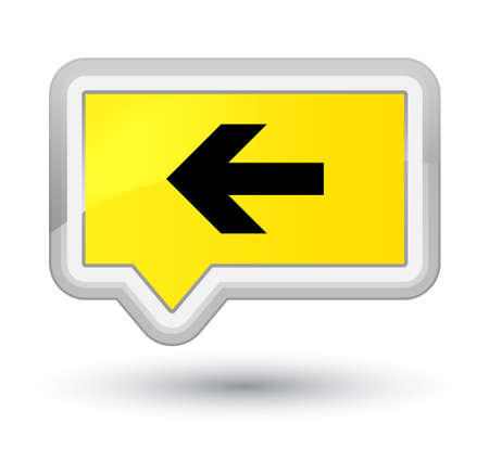 Back arrow icon isolated on prime yellow banner button abstract illustration Stock Photo