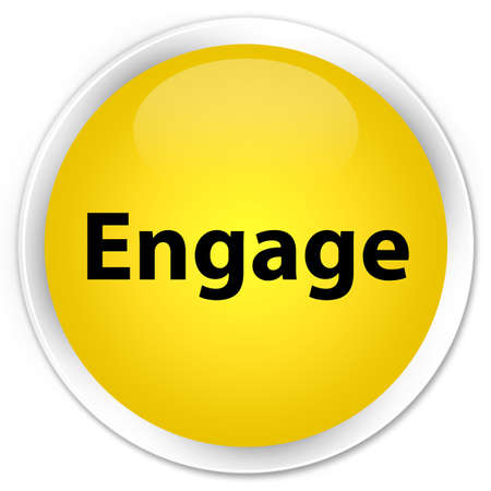 Engage isolated on premium yellow round button abstract illustration