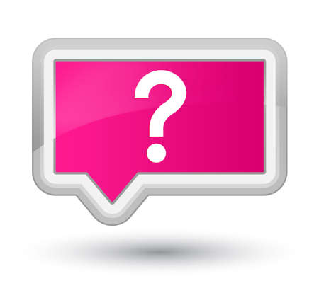 Question mark icon isolated on prime pink banner button abstract illustration Stock Photo