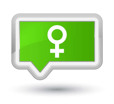 Female sign icon isolated on prime soft green banner button abstract illustration Foto de archivo
