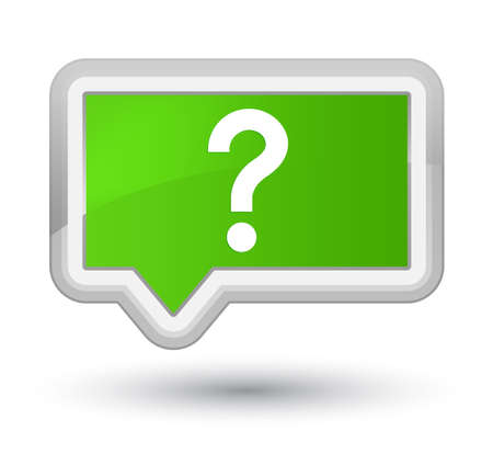 Question mark icon isolated on prime soft green banner button abstract illustration