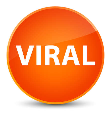 Viral isolated on elegant orange round button abstract illustration