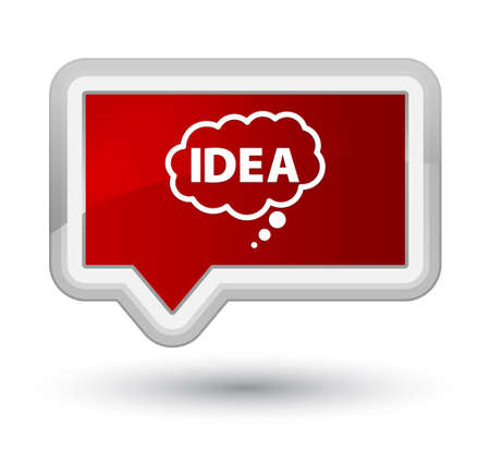 Idea bubble icon isolated on prime red banner button abstract illustration