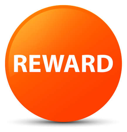 Reward isolated on orange round button abstract illustration