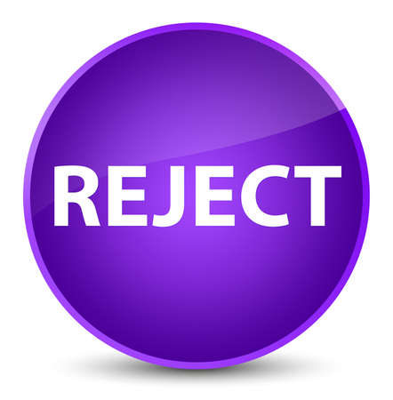 Reject isolated on elegant purple round button abstract illustration Stock Photo