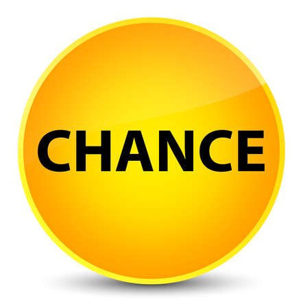 Chance isolated on elegant yellow round button abstract illustration 版權商用圖片