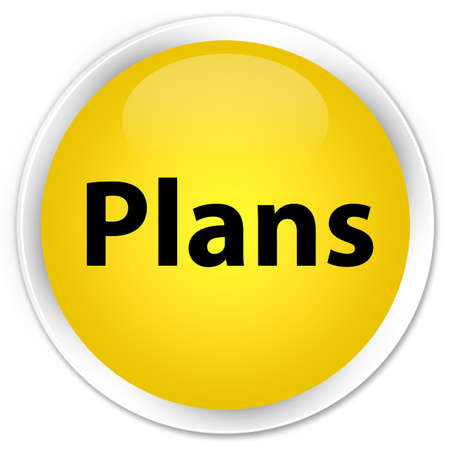 Plans isolated on premium yellow round button abstract illustration