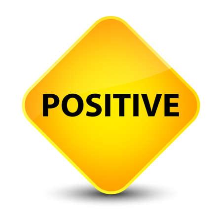 Positive isolated on elegant yellow diamond button abstract illustration Stock Photo