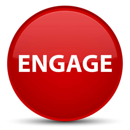 Engage isolated on special red round button abstract illustration