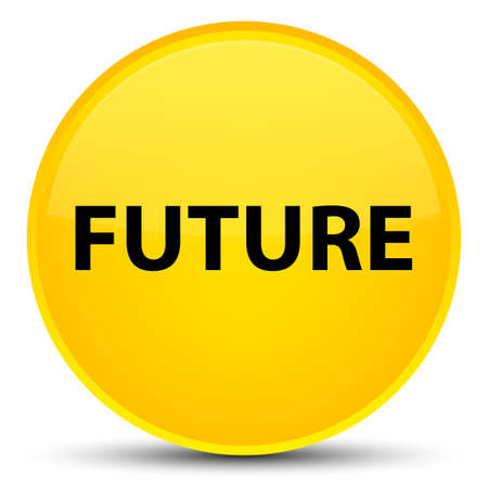 Future isolated on special yellow round button abstract illustration Stock Photo
