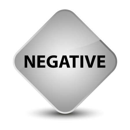 Negative isolated on elegant white diamond button abstract illustration Stock Photo
