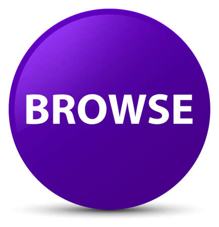 Browse isolated on purple round button abstract illustration