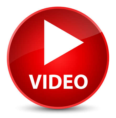 start button: Video isolated on elegant red round button abstract illustration
