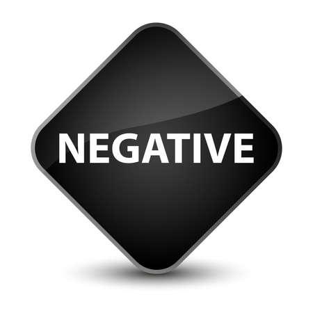 Negative isolated on elegant black diamond button abstract illustration