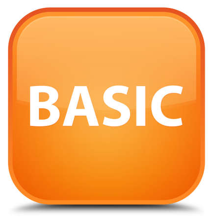 Basic isolated on special orange square button abstract illustration