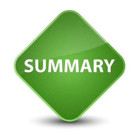 Summary isolated on elegant soft green diamond button abstract illustration Stock Photo
