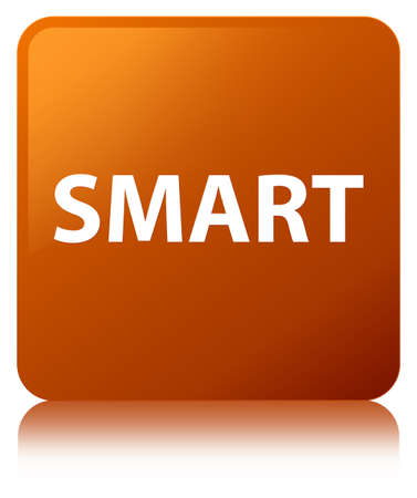 Smart isolated on brown square button reflected abstract illustration Imagens - 89443744