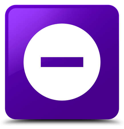 Cancel icon isolated on purple square button abstract illustration