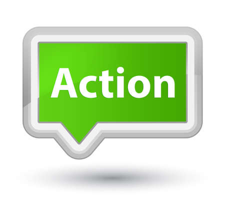 Action isolated on prime soft green banner button abstract illustration