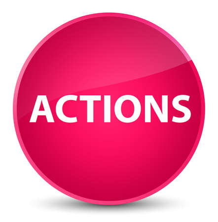 Actions isolated on elegant pink round button abstract illustration