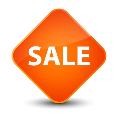Sale isolated on elegant orange diamond button abstract illustration Stock Photo