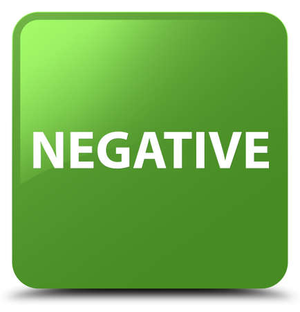 Negative isolated on soft green square button abstract illustration
