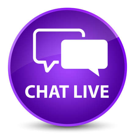 Chat live isolated on elegant purple round button abstract illustration