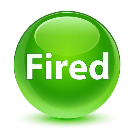 Fired isolated on glassy green round button abstract illustration
