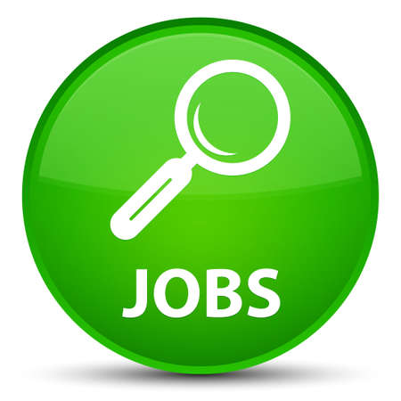 Jobs isolated on special green round button abstract illustration Stock Photo