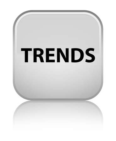 Trends isolated on special white square button reflected abstract illustration