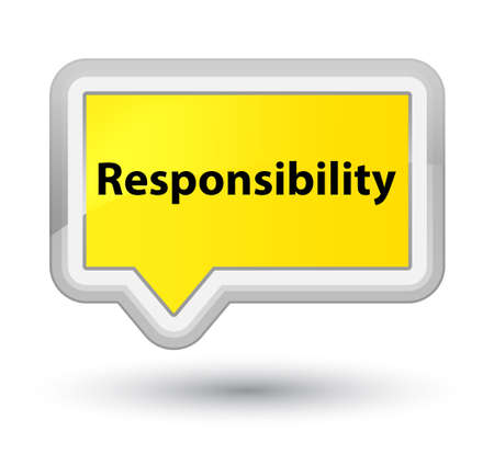 Responsibility isolated on prime yellow banner button abstract illustration