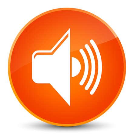 Volume icon isolated on elegant orange round button abstract illustration Stock Photo