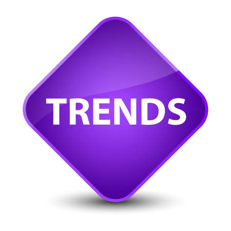Trends isolated on elegant purple diamond button abstract illustration