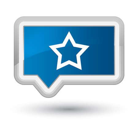 プライムブルーのバナーボタンに隔離された星のアイコン抽象的なイラスト 写真素材