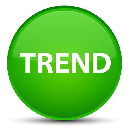 drift: Trend isolated on special green round button abstract illustration