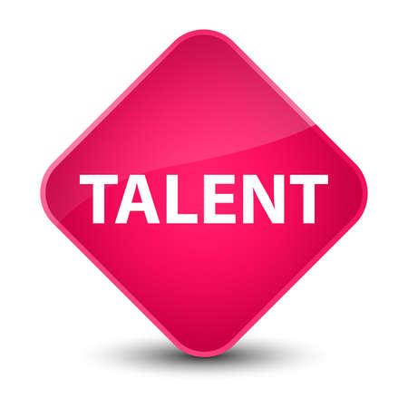 Talent isolated on elegant pink diamond button abstract illustration