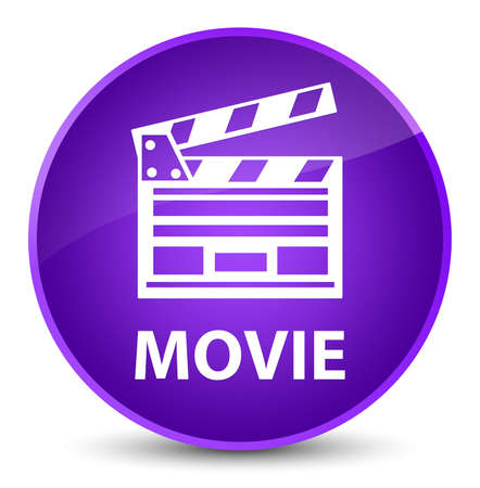Movie (cinema clip icon) isolated on elegant purple round button abstract illustration