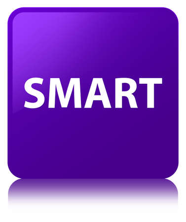 Smart isolated on purple square button reflected abstract illustration Imagens
