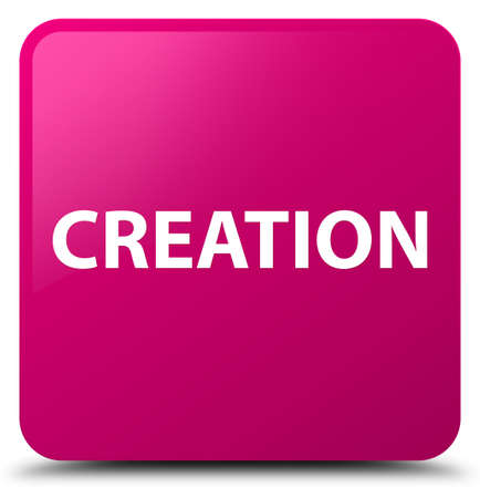 Creation isolated on pink square button abstract illustration Stok Fotoğraf