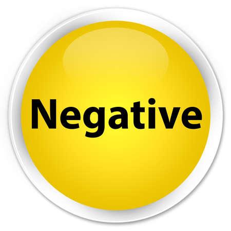 Negativo aislado en el ejemplo abstracto del botón redondo amarillo superior Foto de archivo - 89599933