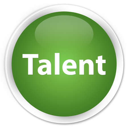 Talent isolated on premium soft green round button abstract illustration Stock fotó