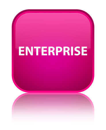 Enterprise isolated on special pink square button reflected abstract illustration