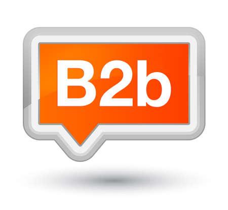 プライム オレンジ バナー ボタン抽象的なイラストに分離された B2b