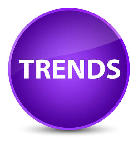 Trends isolated on elegant purple round button abstract illustration