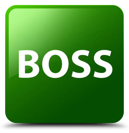 Boss isolated on green square button abstract illustration Фото со стока