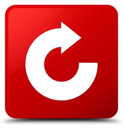 Reply arrow icon isolated on red square button abstract illustration
