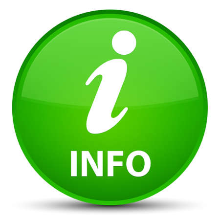 Info isolated on special green round button abstract illustration