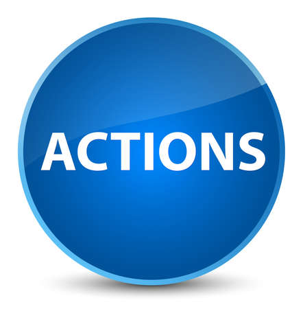 Actions isolated on elegant blue round button abstract illustration