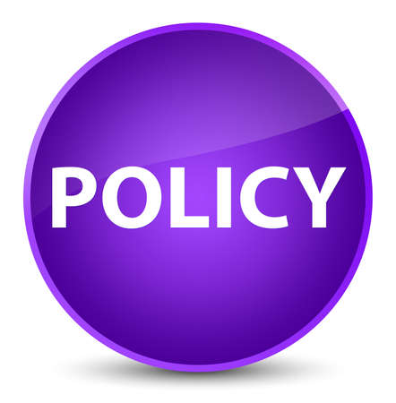 Policy isolated on elegant purple round button abstract illustration